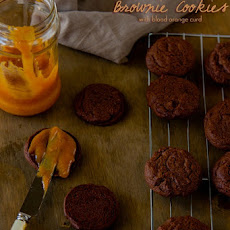 Chocolate Orange Brownie Cookies with Blood Orange Curd