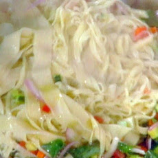 Tagliolini al Crudaiolo: Fresh Pasta with Raw Vegetables