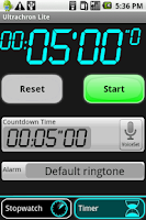 Screenshot of UltraChron Stopwatch Lite