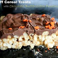 Biscoff Cereal Treats w/Chocolate-Butterscotch Frosting