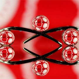 by Dipali S - Artistic Objects Other Objects ( abstract, reflection, red, artistic, spheres, refraction )