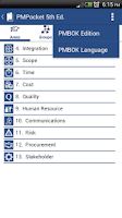Screenshot of PMPocket PMP® Exam PMBOK® Ref