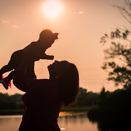 Mother and Daughter by Brandi Davis - People Family ( mother, sunset, outdoor, outdoors, daughter )