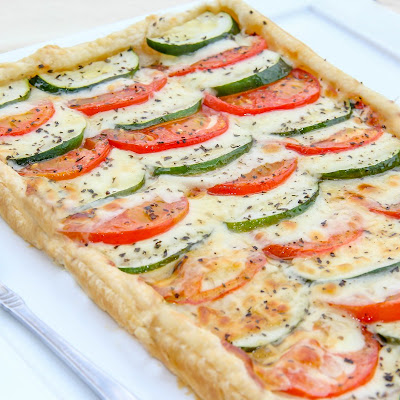 Tomato Zucchini and Cheese Tart