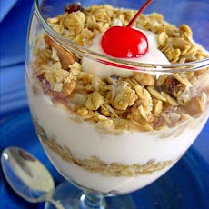 A Breakfast Yogurt Parfait (Granola)