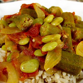 Okra and Lima Bean Masala