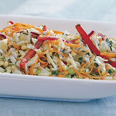 Cabbage and Corn Slaw with Cilantro and Orange Dressing