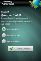 Screenshot of FreePlay Nature Quiz