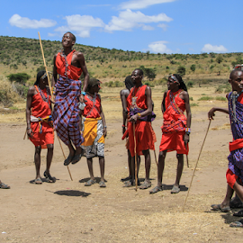 Masai Highjump by Wim Moons - People Group/Corporate