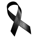 Awareness Ribbon - Black icon