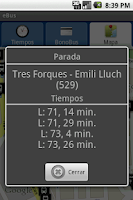 Screenshot of eBus EMT Valencia