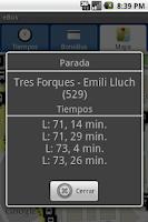 Screenshot of eBus EMT Valencia