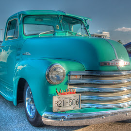 Chevy Sunshine by Ernie Kasper - Transportation Automobiles ( lights, mirrors, style, grill, vintage, truck, 56, tires, chevy, classic )