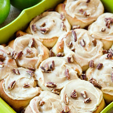 Cinnamon Apple Rolls with Brown Sugar Frosting