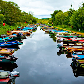 Killarney. Ireland by Karina Irene - Transportation Boats ( #boats, #ireland, #travel )