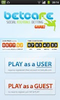 Screenshot of Soccer Betting Game Livescores