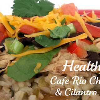 Cafe Rio Slow Cooker Chicken and Cilantro Rice