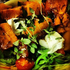 Baked Butternut Squash and Warm Goats Cheese Salad