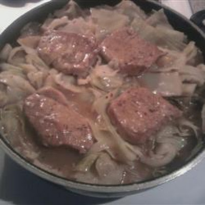 Simple Pork and Cabbage Skillet