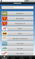 Screenshot of Fast Food Nutri. & Weight Loss
