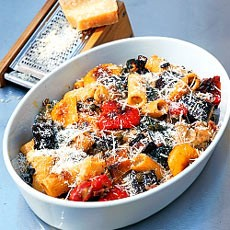 Gratin of Rigatoni with Roasted Vegetables