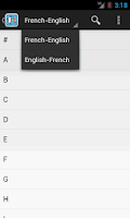 Screenshot of French English Dictionary