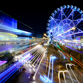 Ferris Wheel by Ferdinand Ludo - City,  Street & Park  Amusement Parks ( mini amusement park in mall of asia, manila,  )