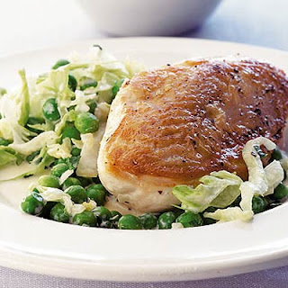 Pan-fried Chicken & Shaken Peas