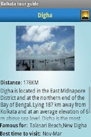 Screenshot of Kolkata tour guide