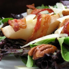 Field Greens With Roasted Bacon-Wrapped Pears