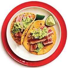 Tuna-Guacamole Tacos