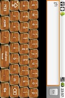 Screenshot of Gold & Wood Keyboard Skin