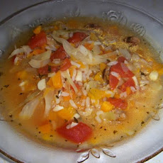 Garlic Vegetable Pasta Soup