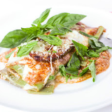 Free Form Eggplant Lasagna with Spinach Noodles