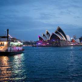 by Laura Couch - City,  Street & Park  Historic Districts ( harbor, australia, sydney opera house, nye, sydney,  )