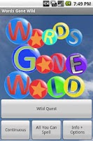 Screenshot of Words Gone Wild Pro