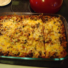 Turkey (Or Beef) Enchilada Casserole