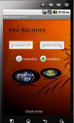 BMI Rechner ohne Werbung