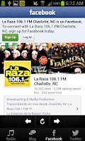 Screenshot of La Raza 106.1 FM