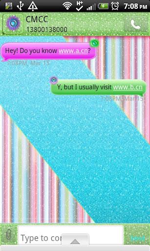 GO SMS THEME GlitterCraze