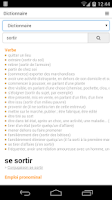 Screenshot of Free French Dictionary