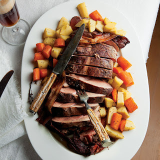 Schweineschmorbraten mit Rübengemüse (Braised Pork Roast with Root Vegetables)
