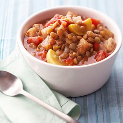 Ratatouille with Lentils