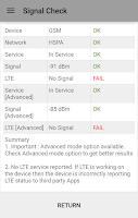 Screenshot of Network Signal Strength