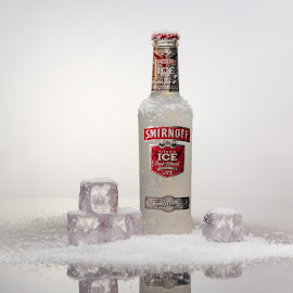Smirnoff Ice by Siegfried Claeys - Food & Drink Alcohol & Drinks ( product photography, ice cubes, snow, drinks, smirnoff ice )
