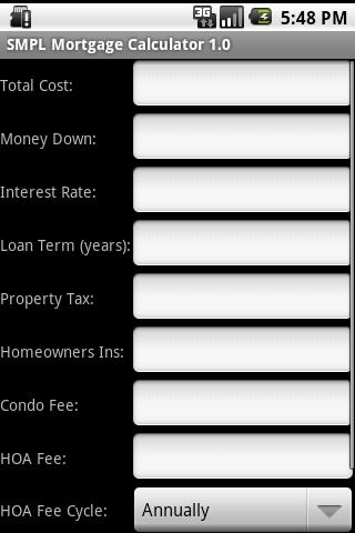 A SMPL MORTGAGE CALCULATOR