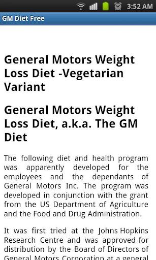 GM Diet Free