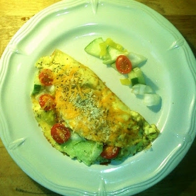 Fresh Garden Vegetable Omelet - Breakfast