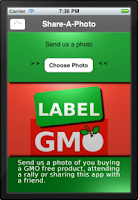 Screenshot of Label GMO