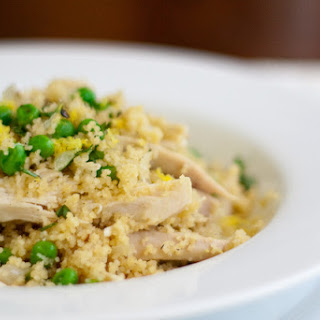 Couscous with Chicken, Lemon, and Peas
